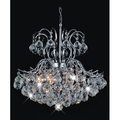 Grimes 6-Light Crystal Chandelier Finish: Chrome, Size: 94 H x 20 W x 20 D