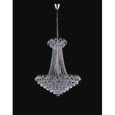 Glimmer 11-Light Empire Chandelier Finish: Chrome, Size: 125 H x 24 W x 24 D