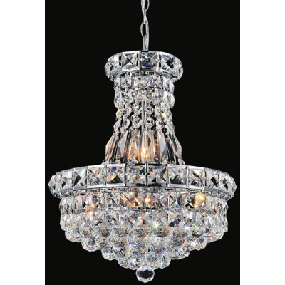 Luminous 6-Light Crystal Chandelier
