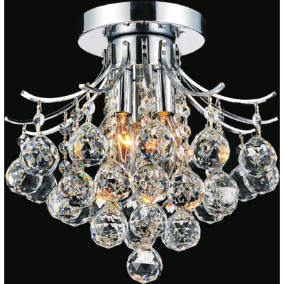Princess 3-Light Semi Flush Mount Finish: Chrome