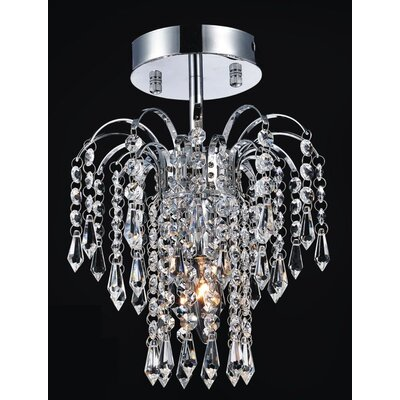 Palm Tree 1-Light Semi Flush Mount Finish: Chrome