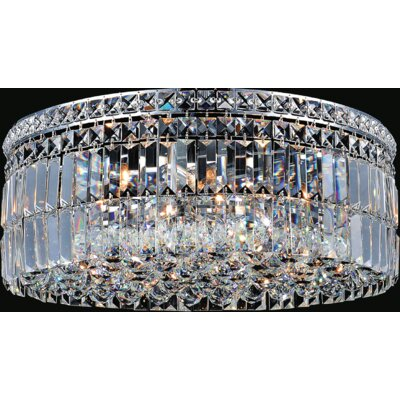 Navya 5-Light Glass Shade Flush Mount