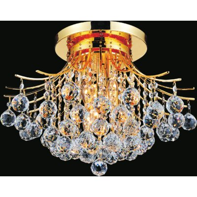 Princess 6-Light Semi Flush Mount Finish: Gold