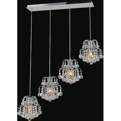 Blossom 4-Light Cascade Pendant Finish: Chrome