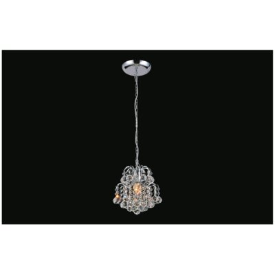 Blossom 1-Light Mini Pendant Finish: Chrome