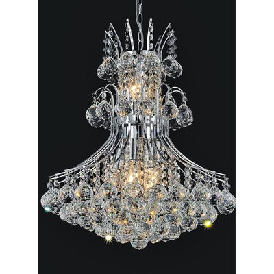 Princess 10-Light Crystal Chandelier Finish: Chrome