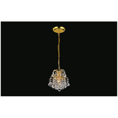 Blossom 1-Light Mini Pendant Finish: Gold