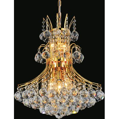 Princess 8-Light Crystal Chandelier Finish: Gold