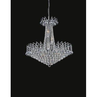 Posh 22-Light Crystal Chandelier Finish: Chrome