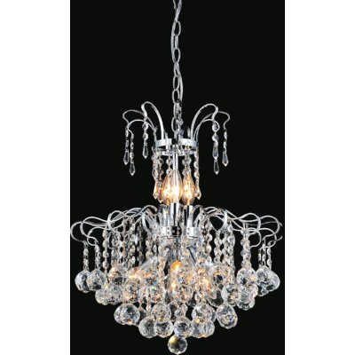 Uptown 9-Light Crystal Chandelier Finish: Gold