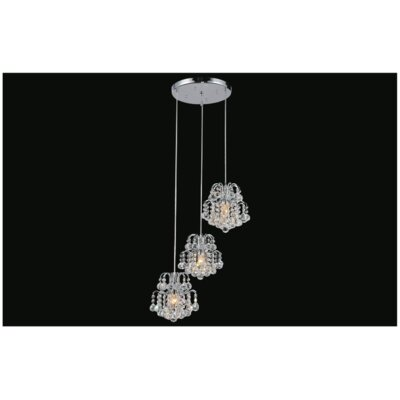 Blossom 3-Light Cascade Pendant Finish: Chrome