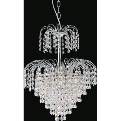 Palm Tree 8-Light Crystal Chandelier Finish: Chrome