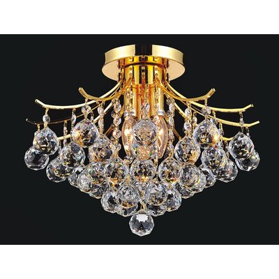 Princess 4-Light Semi Flush Mount Finish: Gold