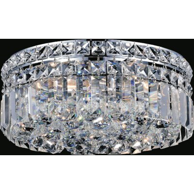 Navya 4-Light Metal Shade Flush Mount Size: 6 H x 12 W x 12 D