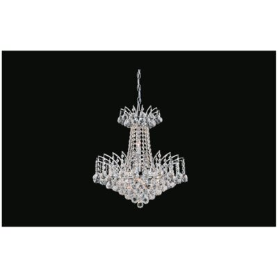 Posh 11-Light Crystal Chandelier Finish: Gold