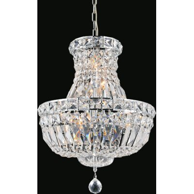 Stefania 4-Light Crystal Chandelier Size: 92 H x 14 W x 14 D