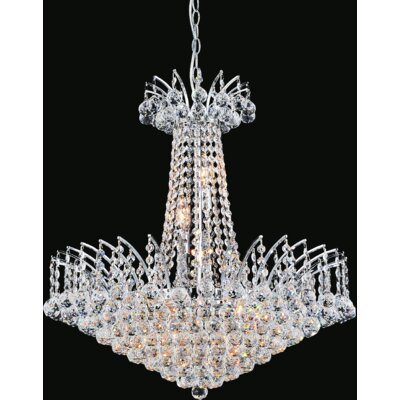 Posh 11-Light Crystal Chandelier Finish: Chrome