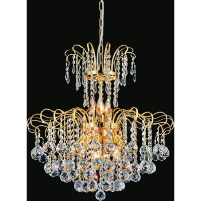 Uptown 9-Light Crystal Chandelier Finish: Chrome