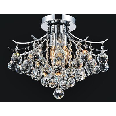 Princess 4-Light Semi Flush Mount Finish: Chrome