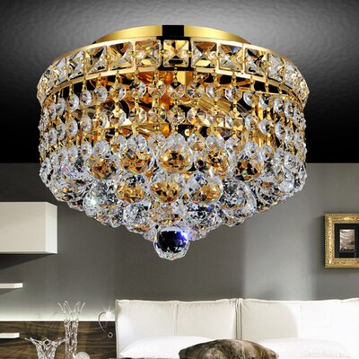 Luminous 2-Light Semi Flush Mount Finish: Gold