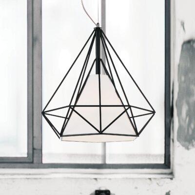 Diamond 1-Light Geometric Pendant Size: 88 H x 15 W x 15 D