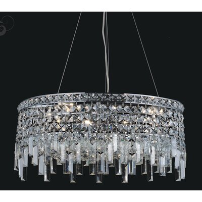 Navya 10-Light Drum Shade Crystal Pendant