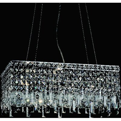 Navya 6-Light Rectangular Shade Crystal Pendant