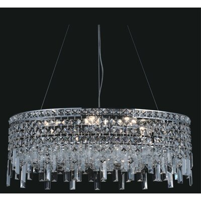 Elna 6-Light Crystal Pendant