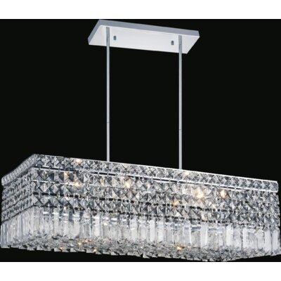 Navya Contemporary 8-Light Crystal Pendant