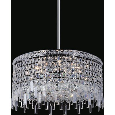 Elna 8-Light Crystal Pendant