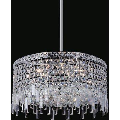 Navya 8-Light Drum Shade Crystal Pendant