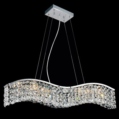 Kasha 6-Light Crystal Pendant
