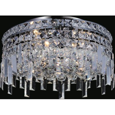 Navya 5-Light Glass Shade Semi Flush Mount