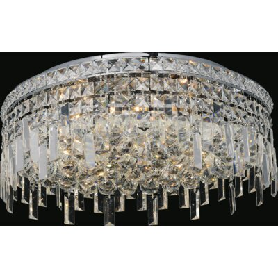 Navya Contemporary 8-Light Semi Flush Mount