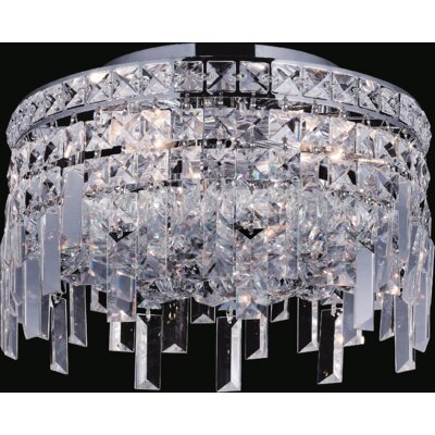 Navya 4-Light Glass Shade Semi Flush Mount