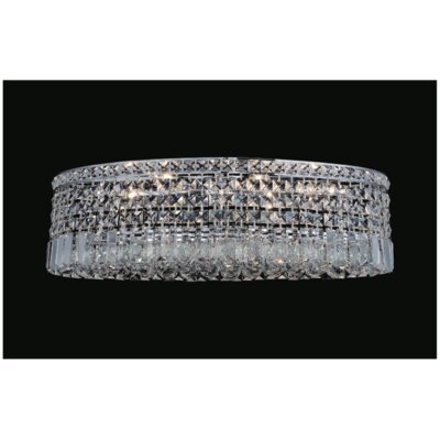 Navya 8-Light Glass Shade Flush Mount