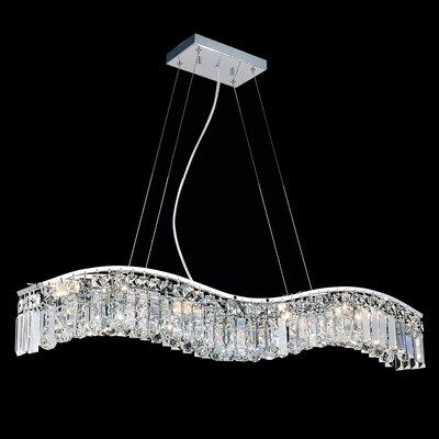Kasha 7-Light Crystal Pendant Size: 6 H x 20 W x 5 D