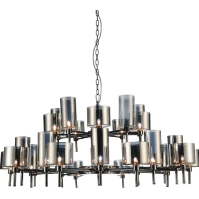 Montoya 30-Light Shaded Chandelier