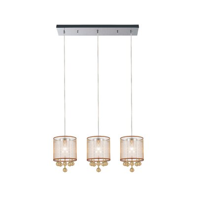 3-Light Kitchen Island Pendant Shade Color: Champagne Gold