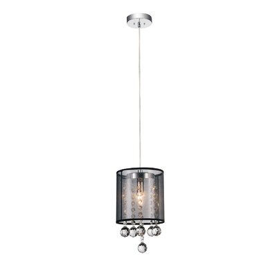 1-Light Mini Pendant Shade Color: Clear Black
