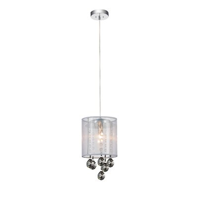 1-Light Mini Pendant Shade Color: Smoke White