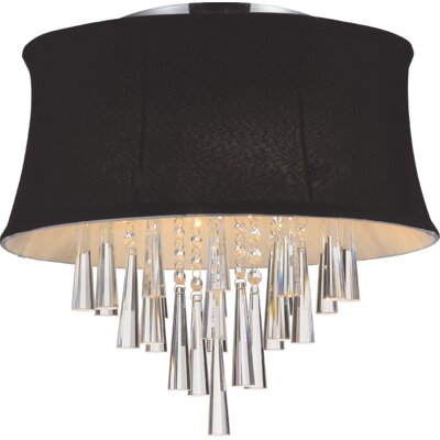 Audrey 4-Light Flush Mount Shade Color: Black