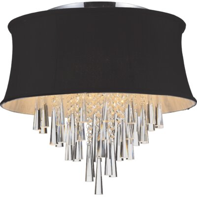 Audrey 6-Light Flush Mount Shade Color: Black