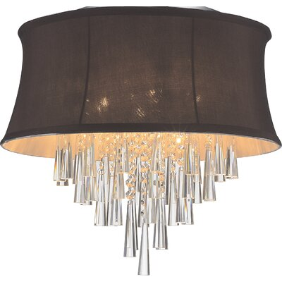 Audrey 6-Light Flush Mount Shade Color: Dark Purple