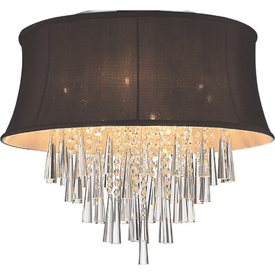 Audrey 8-Light Flush Mount Shade Color: Dark Purple