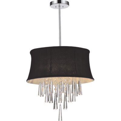 Audrey 4-Light Drum Chandelier Shade Color: Black