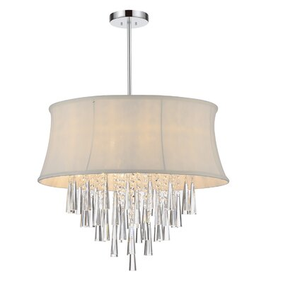 Audrey 8-Light Drum Chandelier Shade Color: White