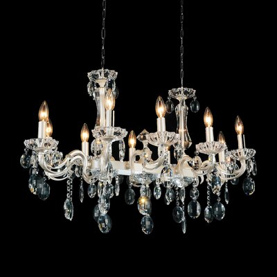 Combs 10-Light Crystal Pendant Finish: Pearl White