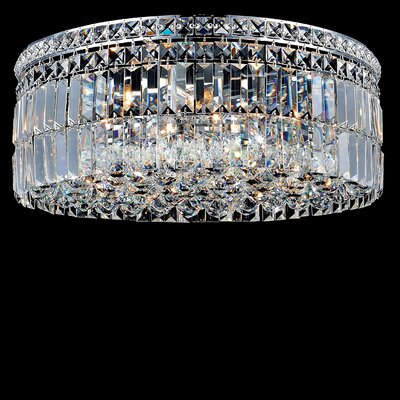Navya 10-Light Glass Shade Flush Mount