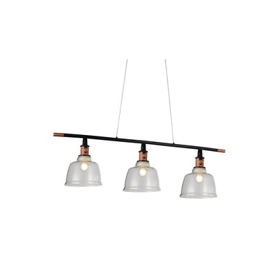 Tower Bell 3-Light Kitchen Island Pendant Shade Color: Clear